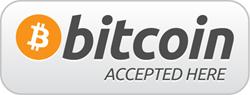 We accept Bitcoin